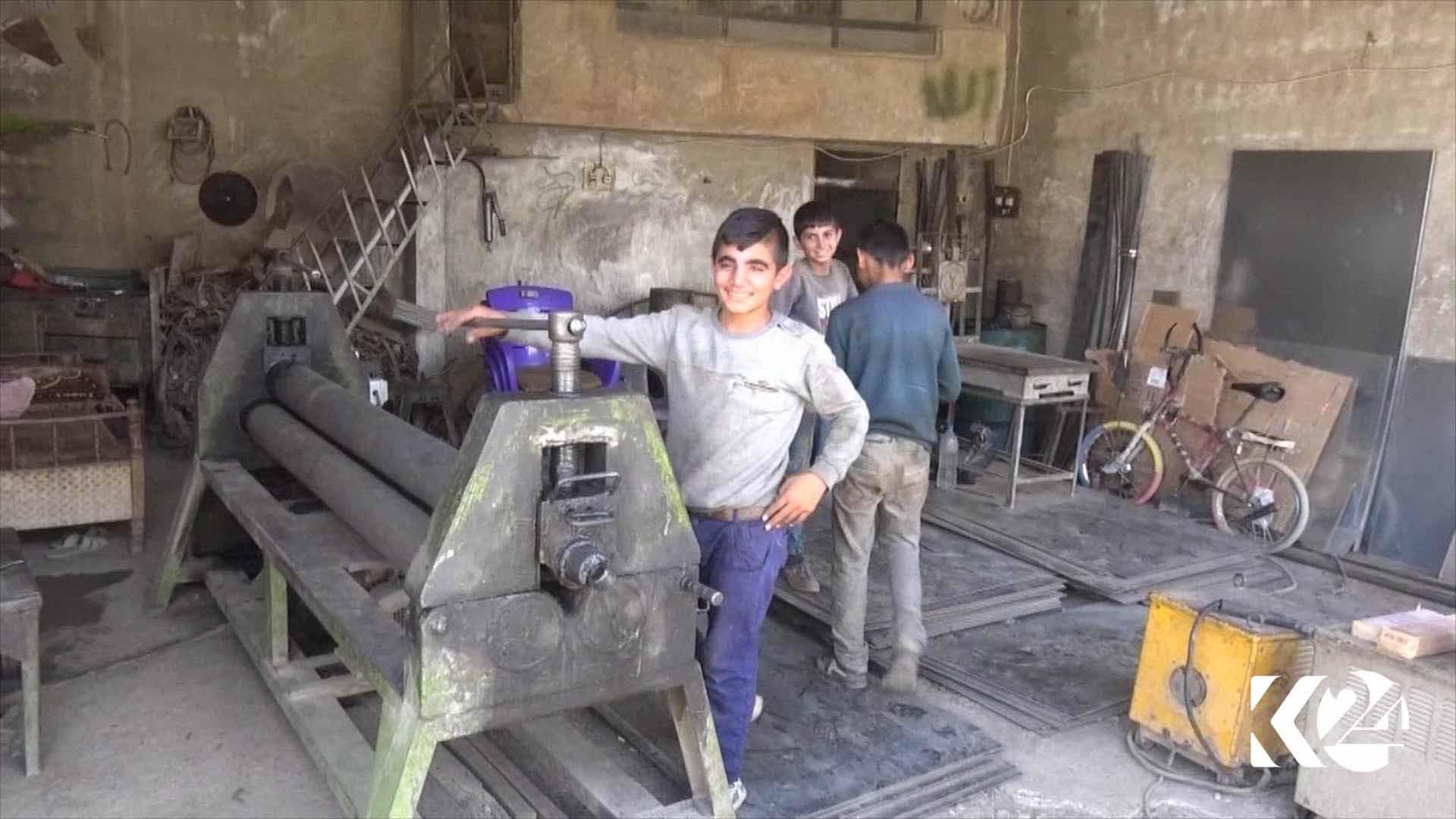 عمالة الأطفال السوريين في إقليم كردستان العراق