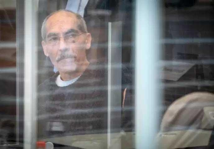 Anwar Raslan, ancien responsable du centre de détention d'Al-Khatib, lors de son procès à la cour de Coblence (Allemagne), le 23 avril.