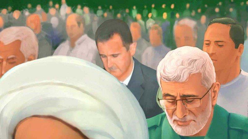 كراهية إسرائيل واحتقار الأسد في الدعاية الإيرانية