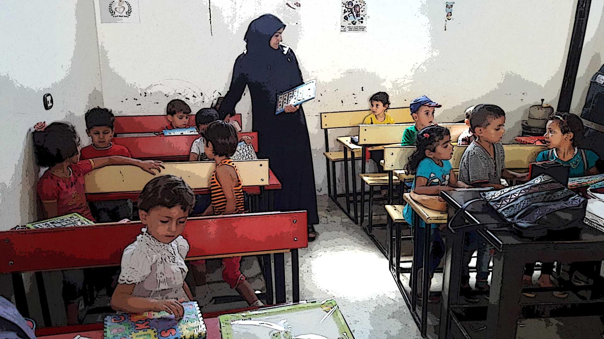 معلمات رياض الأطفال وأدوارهن في المناطق المحررة